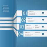 Infographics menu vector design with four options Royalty Free Stock Photo