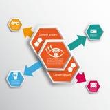 Infographics met zeshoeken vector illustratie