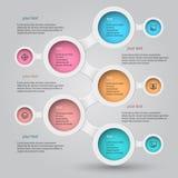 Infographics 6 Metaball Стоковое Изображение
