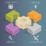 Infographics - mise en réseau d'affaires Images libres de droits