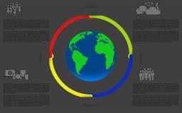 Infographics mit Erde Planetenerde infographic Stockfoto
