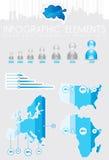 Infographics mit Karten und Diagrammen Stockbilder