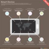 Infographics mobile application Stock Photos