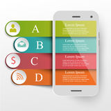 Infographics mobile concept Royalty Free Stock Photos