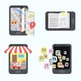 Infographics-Mobileanwendung Stockfoto