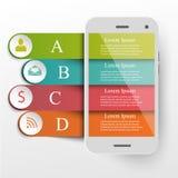 Infographics-Mobilekonzept Lizenzfreie Stockfotos