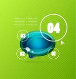 Infographics modern design template Stock Image