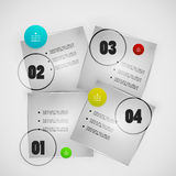 Infographics modern design template Stock Photography