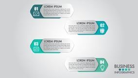 Infographics modern template for business with 4 steps, icons for 4 options.Can be used for workflow layout, diagram, website, cor vector illustration