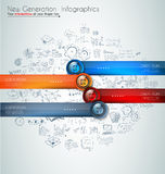 Infographics modern template to classify data and information Royalty Free Stock Photos