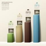 Infographics moderne de diagramme du résumé 3d Photos stock