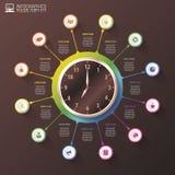 Infographics moderne de gestion prévisionnelle de temps de travail Calibre de luxe de conception Illustration de vecteur illustration libre de droits