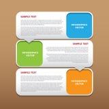 Infographics moderne de vecteur abstrait pour le travail créatif Photographie stock libre de droits