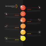 Infographics moderne Descripteur de conception Vecteur noir Photos stock