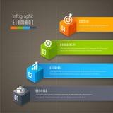 Infographics moderno abstrato da bandeira do vetor do molde 3D Negócios ilustração do vetor