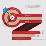 Infographics moderno astratto dell'insegna di vettore del modello 3D Affare Fotografie Stock Libere da Diritti