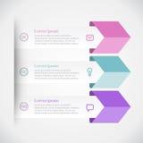 Infographics moderno de la flecha Fotografía de archivo libre de regalías