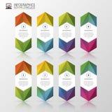 Infographics moderno Molde colorido do projeto Ilustração do vetor Fotos de Stock