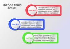 Infographics moderno para a apresentação da bandeira da Web com espaço do texto Fotos de Stock
