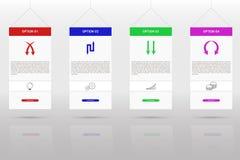 Infographics moderno y simple de la cronología de cuatro pasos Fotos de archivo