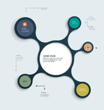 Infographics molecule design template Royalty Free Stock Photo