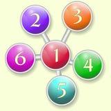 Infographics Mooie regeling van gekleurde cirkels Royalty-vrije Stock Fotografie