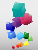 Infographics multicolor visually surround 3d vector illustration Royalty Free Stock Images