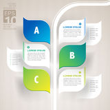 Infographics nature leaves growth concept Royalty Free Stock Photos