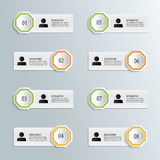 Infographics number options template Royalty Free Stock Images