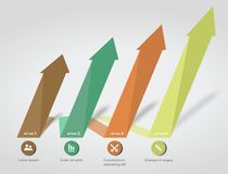 Infographics numbered arrow options elements Royalty Free Stock Image