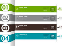 Infographics Numbered banners can be used for workflow layout, Royalty Free Stock Photography