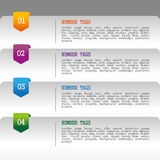 Infographics numbers tags Royalty Free Stock Image