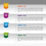 Infographics nummeriert Tags Lizenzfreies Stockbild