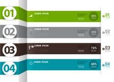 Infographics nummerierte Fahnen kann für Arbeitsflussplan verwendet werden, Lizenzfreie Stockfotografie