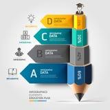 Лестница Infographics o карандаша коммерческого образования Стоковая Фотография