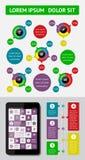 Infographics och rengöringsdukbeståndsdelar Arkivbild