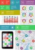 Infographics och rengöringsdukbeståndsdelar Arkivbilder