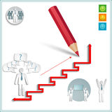 Infographics office men Royalty Free Stock Image