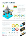 Infographics of oil industry production theme. Oil industry chart, fuel production info graphic, vector illustration Stock Photo