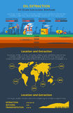 Infographics oil industry Stock Photos
