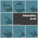 Infographics on oil Stock Images