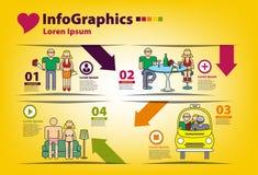Infographics op het onderwerp van mensen Royalty-vrije Stock Foto's