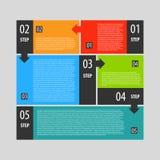 Infographics opcj sztandaru kroki ustawiający Zdjęcie Royalty Free