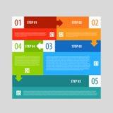 Infographics opcj sztandaru kroki ustawiający Zdjęcia Royalty Free