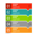 Infographics opcj sztandaru kroki ustawiający Zdjęcia Stock