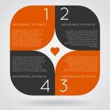 Infographics opcj sztandaru kroki ustawiający Obrazy Stock