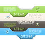 Infographics option design template Stock Photography