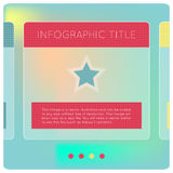 Infographics options banner. Abstract modern glossy green infographics options banner with polygonal background. Vector illustration. Smartphone and tablet Stock Images