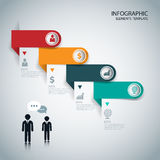 Infographics options banner. Vector. Can be used for web design and workflow layout royalty free illustration