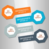 Infographics options banner. Stock Image